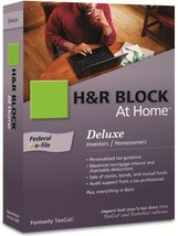 H&R Block At Home 2009 Deluxe Federal + E File [Old Version] - $16.71