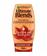 Garnier Ultimate Blends Maple and Castor Oil Conditioner 360ml - $10.22