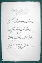 "1826 PENMANSHIP Calligraphy Composite - 12"" x 18"" (30 x 46 cm) Superb Pr... - $40.46"