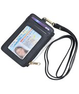 Yeeasy ID Badge Holder with Neck Lanyard PU Leather ID Badge Wallet Case... - $7.72
