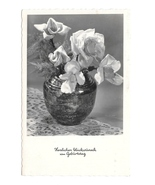 Happy Birthday Gluckwunsch Geburtag Vase Roses Austria HDH Verlag RPPC P... - $5.50
