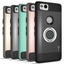 Google Pixel 2 Case ~ Grip Ring Hybrid TPU ~ Hard Phone Cover ~ Ring Case Series - $20.00