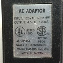Anoma Electric AEC-3545A AC Adapter Power Supply Charger  4.5VAC 120mA - ₹1,408.87 INR