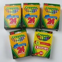 NEW- Lot of 5 CRAYOLA Crayon boxes (24 crayons per box) - $15.95
