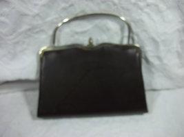 Vintage Metal Frame  Dark Brown Clutch - $22.00