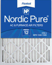 Nordic Pure 20x24x2 Pleated MERV 12 Air Filters 3 Pack - $33.80