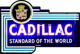 Cadillac Standard of the World Metal Sign - $39.95