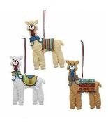 Set of 3 Llama Ornaments w - $18.99
