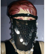 Belly Dancing Outfit Lyrical Face Veils for Tribal Dance 6 pcs - Silver ... - $28.20