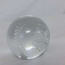 Tiffany Co Chicago Cubs Crystal MLB Baseball Paperweight Glass World Series - $199.99