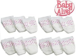 Hasbro Baby Alive Diapers Double Pack (12 Diapers) - $21.73