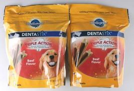 Pedigree DENTASTIX Dental Treats Dogs Beef Flavor 36 Treats Large (30 lb+ Dogs)