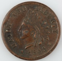 """1863 Cabeza de Indio Guerra Civil Token Cud Error"""" Unión y Liberty / Uno... - $59.38"""