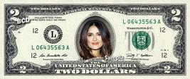 SALMA HAYEK on a REAL TWO Dollar Bill Cash Money Collectible Memorabilia Celebri - $12.22