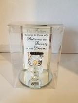 Graduation Gift Glass Owl/ Stand Cap/Diploma 4in. Check Description 4 Quote - $9.49