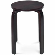 """Set of 4 18"""" Wood Home Backless Dining Chairs-Deep Brown - Color: Deep B... - $133.41"""