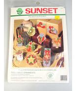 Cross Stitch Christmas Ornaments Southwest cowboy boots, hat, cactus, Sa... - $30.73