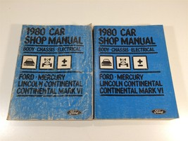1980 Ford Car Shop Manual Body Chassis Electrical Mercury Lincoln Continental - $12.99