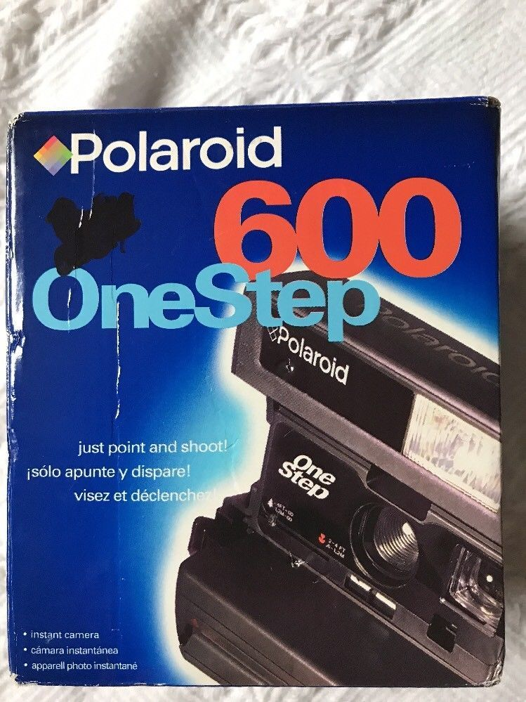 Primary image for Vintage Polaroid One Step 600 Instant Film Camera Point and Shoot Flash NEW