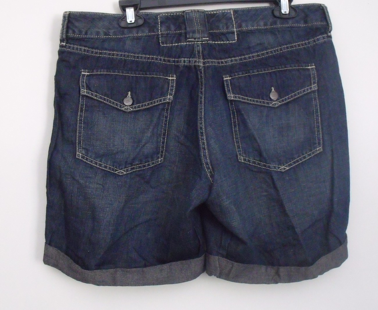 Womens Eddie Bauer Dark Blue Jean Shorts Size 12