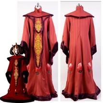 Star Wars The Phantom Menace Padme Amidala Queen Dress Halloween Cosplay Costume - $99.32+