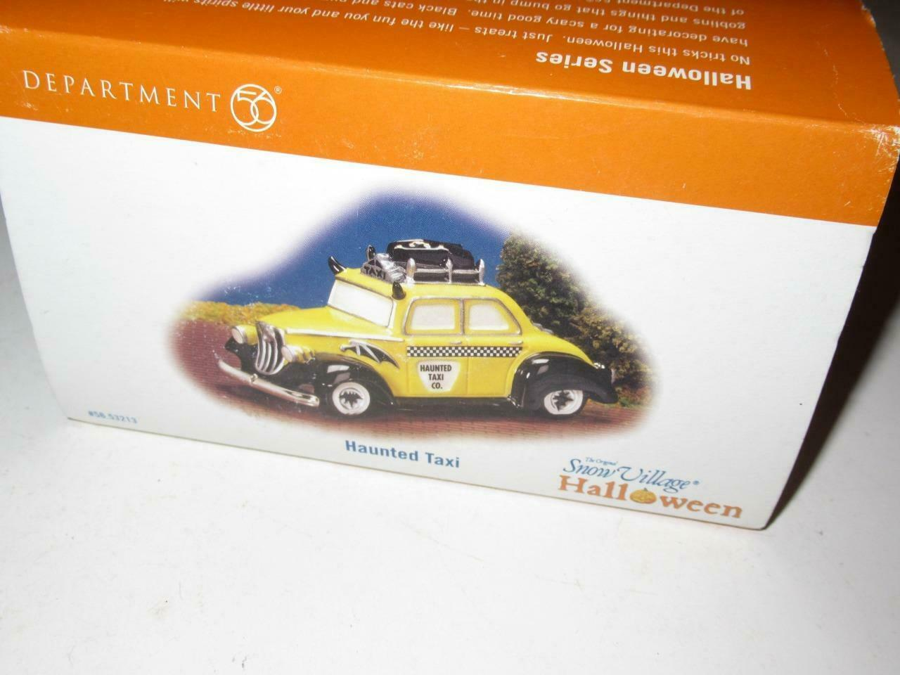 Primary image for DEPT 56- RETIRED- 58-53213 - HAUNTED TAXI- NEW IN THE BOX - H49