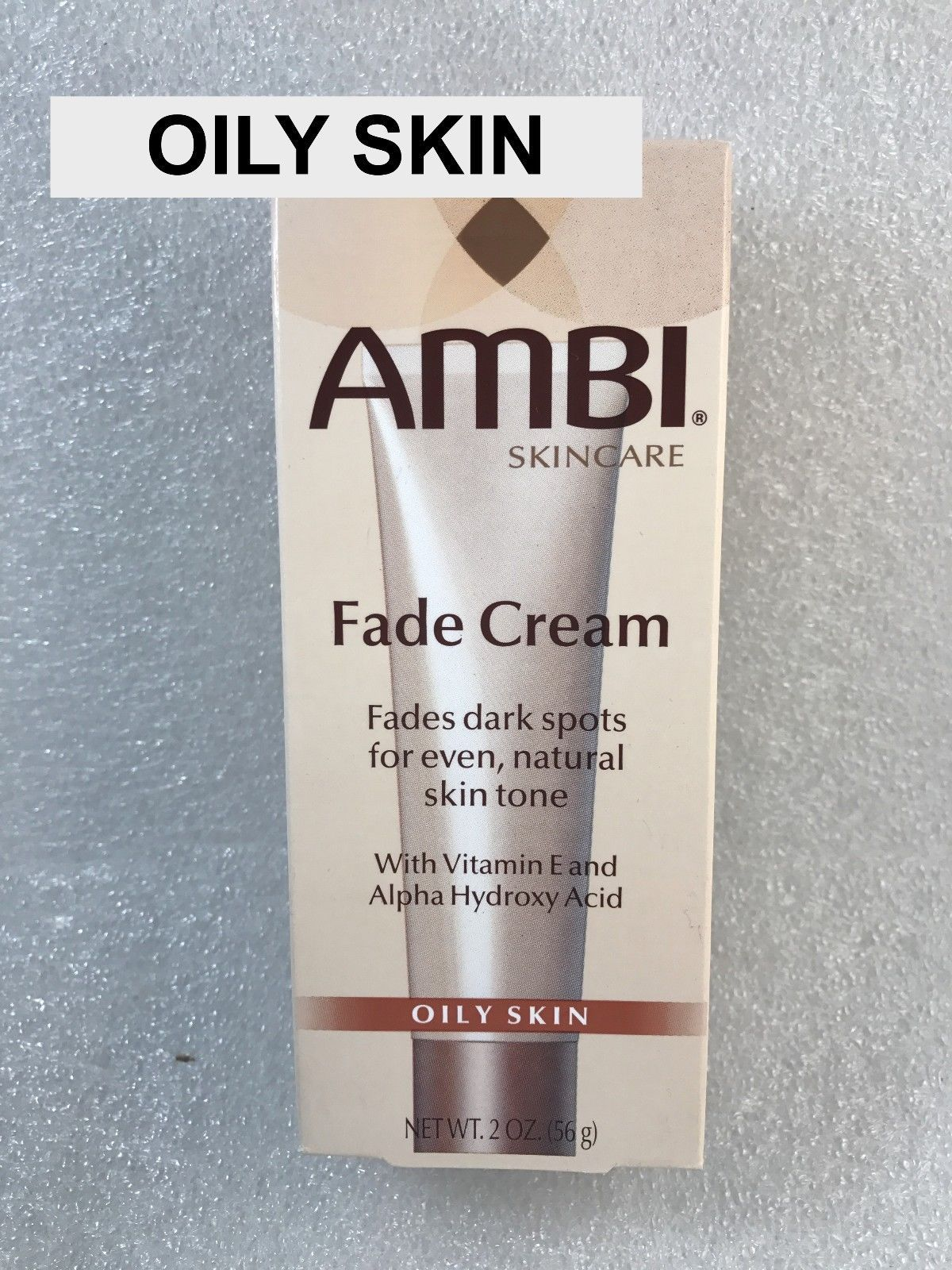 AMBI SKINCARE FADE CREAM WITH VITAMIN E & ALPHA HYDROXY ACID -  OILY SKIN  2 OZ