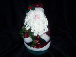 "AVON JIGGLING HOLIDAY SANTA DECORATION 12"" New in Box - $19.95"