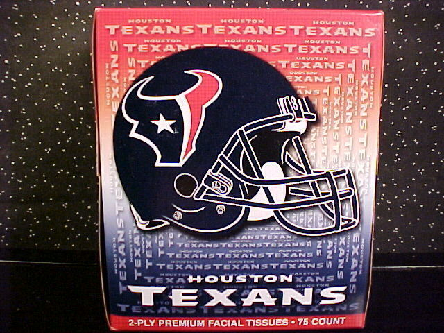 *HOUSTON TEXANS*PREMIUM FACIAL TISSUES CUBE*2 PLY*NEW* Bonanza