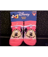 *MINNIE MOUSE*BOOTIES*INFANT*BABY*CHILD*0-6 MOS*NWT* - $5.00