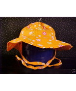 *TODDLER*ORANGE*RED*WHITE*YELLOW FLOWER SUN HAT*6/18 MO - $5.00