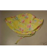 *TODDLER*BABY*YELLOW*PINK*BLUE FLOWER SUN HAT*6/18 MO* - $4.00