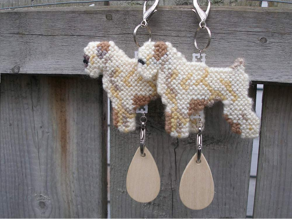 Soft-Coated Wheaten Terrier dog crate tag or hang anywhere art, pick your color