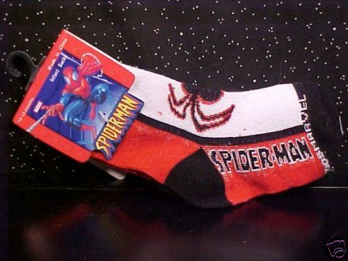 *SPIDER-MAN*SOCKS*BLACK*RED*WHITE*INFANT*6-12 MONTH*NWT