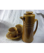 Vintage Ambered Colore Stoneware Tea Pot Set, - $30.00