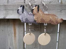 Skye Terrier dog crate tag or hang it anywhere, hand stitched, choose yo... - $19.00