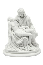 "4.5"" Pieta Jesus Mary Michelangelo Catholic Statue Vittoria Made in Italy - $34.99"