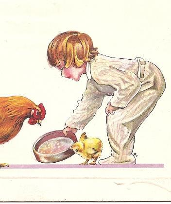"""1916 Vintage Post Card """"Welcome Easter Morning"""" Posted April 16, 1916! Series 76"""