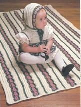 Victorian Baby Set Crochet Pattern~Dress~Bonnet~Afghan - $2.99
