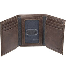 Levi's Trifold RFID Embossed Two Horses Logo Brown Credit Card Wallet for Men image 4