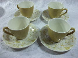 Vintage Golden Meadow Cup and Saucer Set by Sheffield - $35.00