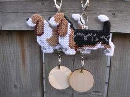 Basset Hound dog crate tag or hang anywhere, handmade accessory, pick your color - $20.00