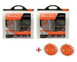 AutoSock AS698 (2 Sets) Snow Sock Set W/ 2 Emergency Safety Flare - $217.79