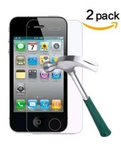 TANTEK Tempered Glass Screen Protector for Apple iPhone 4/4S, Clear, 2 Pack - $7.88
