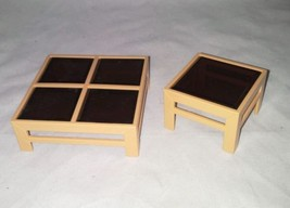 Tomy Dollhouse Vintage Furniture Coffee Table with Matching End Stand 1:16 - $24.99