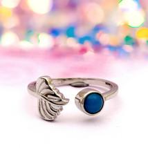 925 Sterling Silver 5 MM Round Bezel Set Blue Turquoise OPEN LEAF BRANCH... - $18.45