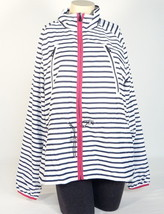 Ralph Lauren Active Blue & White Zip Front Lined Wind Jacket Women Extra Large - $148.49