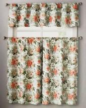 "3pc. Curtains Set: Valance(56""x14"") & 2 Tiers (28""x36"") Spring Affair Flowers,Vc - $17.81"