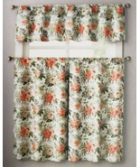 "3pc. Curtains Set: Valance(56""x14"") & 2 Tiers (28""x36"") SPRING AFFAIR FL... - $17.81"