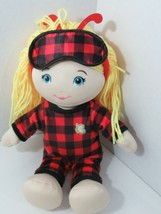 Cracker Barrel Believe in Yourself Butterfly Plush Doll Blonde red plaid... - $13.85